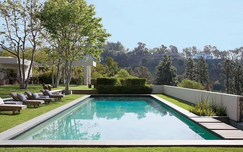 Ellen DeGeneres and Portia de Rossi's pool house.