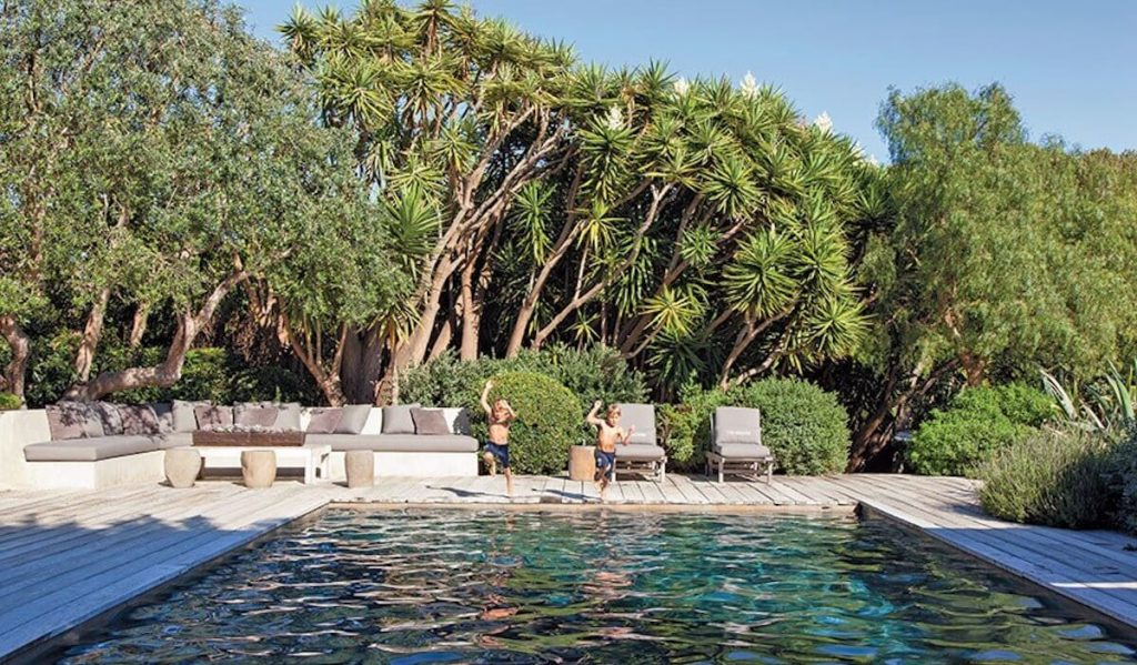 Jillian and Patrick Dempsey's pool house.